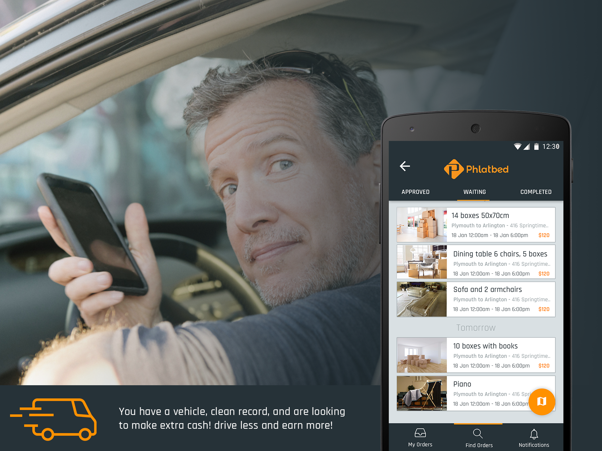 Phlatbed, Phlatbed on-demand moving